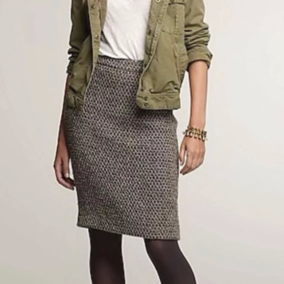 J. Crew Dresses & Skirts - j. crew | brown timber tweed wool pencil skirt 2